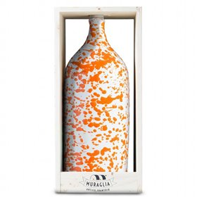 Extra Virgin Olive Oil Jeroboam Orange Ceramic Jar (Medium Fruity) 3000ml