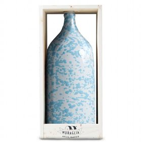 Extra Virgin Olive Oil Jeroboam Blue Ceramic Jar (Medium Fruity) 3000ml
