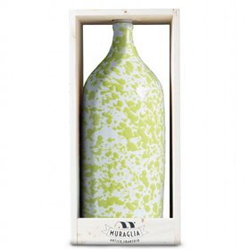 Extra Virgin Olive Oil Jeroboam Green Ceramic Jar (Medium Fruity) 3000ml