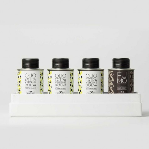 Coffret d'Huile d'Olive Extra Vierge (4x 100ml)