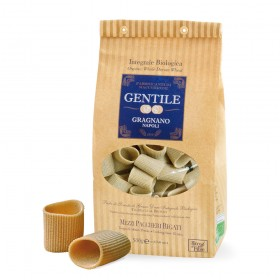 Organic Whole Wheat Mezzi Paccheri Gragnanos Pasta 500g