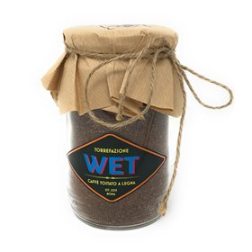 Torrefazione Wet - Ground Wood-Fired Roasting Coffee for Moka 60% Arabica 40% Robusta Blend 300g