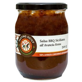 Tasting Sicily - Sicilian Barbecue Sauce with Red Orange 600g