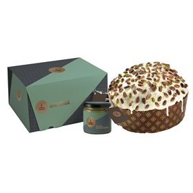 Artisanal Panettone Oro Verde with Pistachio Cream to Spread 1kg