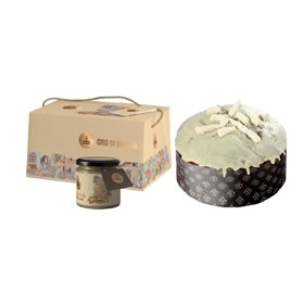 Artisanal Panettone Oro di Manna with Manna Cream to Spread 1kg