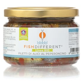 Filets d'Anchois avec Piment 250g