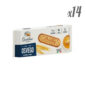 Gentilini - Osvego Biscuits with Malt and Honey 250g (Pack of 14)