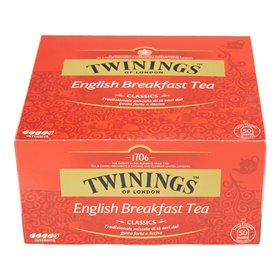 Twinings Tè Nero English Breakfast Tea 50 Filtri