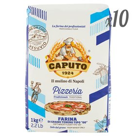 Mulino Caputo Pizzeria Tipo 00 Soft Wheat Flour 1kg (Pack of 10 x 1kg)