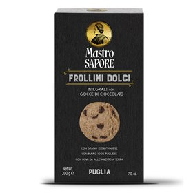 Mastro Sapore - Wholemeal Frollini Biscuits with Chocolate Chips, 200g