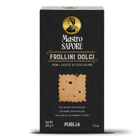 Mastro Sapore - Frollini Biscuits with Rum and Chocolate Chips, 200g