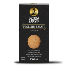 Mastro Sapore - Biscuits Frollini avec Fromage et Poivre, 200g