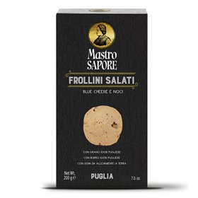 Mastro Sapore - Galletas Frollini con Blue Cheese y Nueces, 200g
