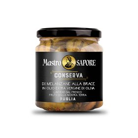 Mastro Sapore - Grilled Aubergines in Extra Virgin Olive Oil, 280g