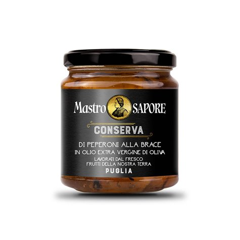 Mastro Sapore - Grilled Peppers in Extra Virgin Olive Oil, 280g