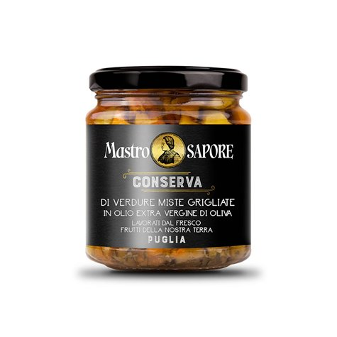 Mastro Sapore - Grilled Mixed Vegetables in Extra Virgin Olive Oil, 280g