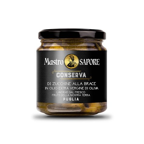 Mastro Sapore - Grilled Courgettes in Extra Virgin Olive Oil, 280g
