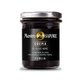Mastro Sapore - Black Olive Paste in Extra Virgin Olive Oil, 180g