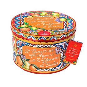Fiasconaro - Dolce & Gabbana Panettone with Citrus Fruits and Saffron from Sicily (Red Tin) 1kg