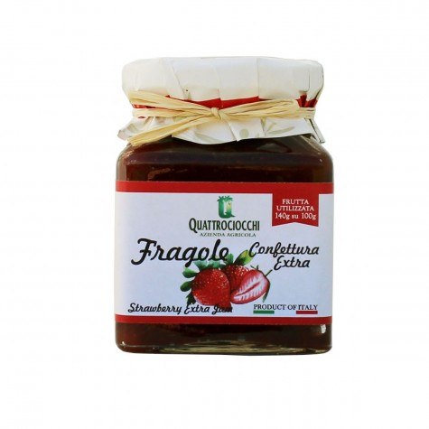 Quattrociocchi Strawberry Extra Jam 350gr