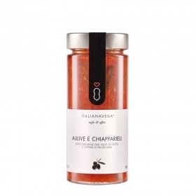 """Salsa """"Aulive e Chiappariell"""" con Tomate, Aceitunas y Alcaparras 280g"""