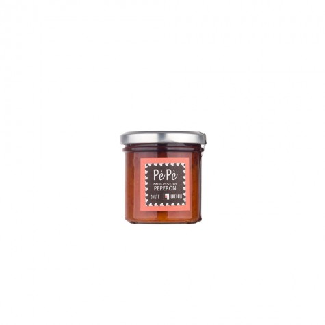 PèPè Sweet and Sour Peppers Preserve Slightly Spicy Corte Luceoli 145gr