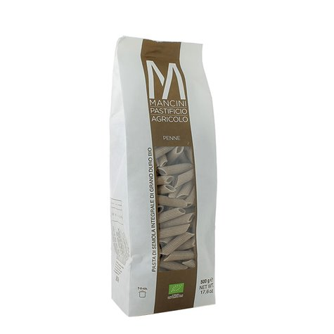 Organic Whole Wheat Penne Pasta 500g