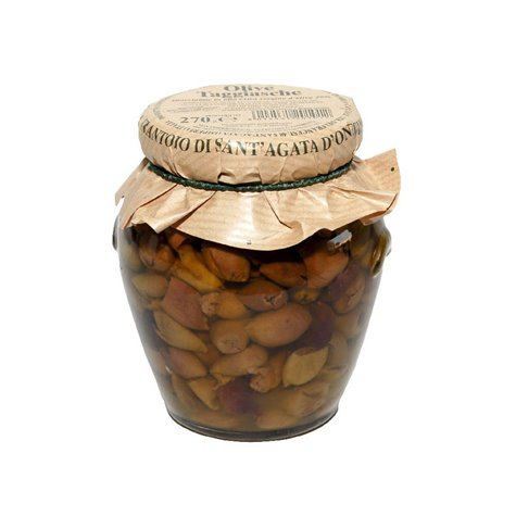 Pitted Taggiasca Olives in Extra Virgin Olive Oil 260g