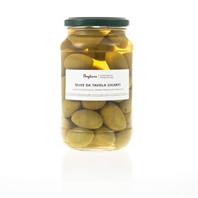 Organic Giant Green Olives 580g