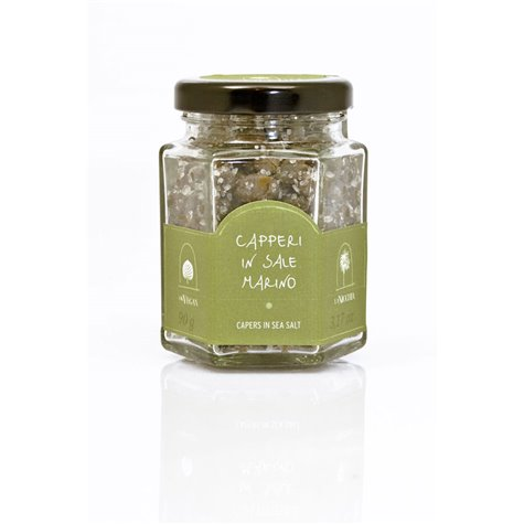 Medium Capers in Sea Salt 90g