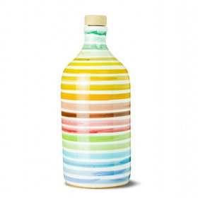 Extra Virgin Olive Oil Rainbow Ceramic Jar (Medium Fruity) 500ml