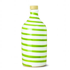 Extra Virgin Olive Oil Capri Bright Green Ceramic Jar (Medium Fruity) 500ml