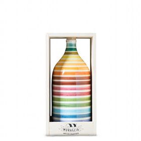 Extra Virgin Olive Oil Magnum Rainbow Ceramic Jar (Intense Fruity) 1500ml